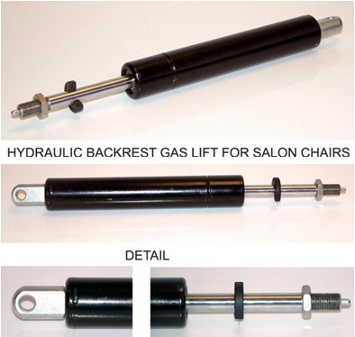 Furniture Steel Locking Air Gas Spring , Pneumatic Nitrogen Gas Lift Struts