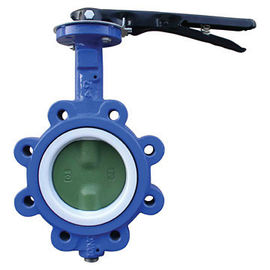 China EPDM Seated Manual Lug Butterfly Valves Wafer Type For Ship Building / Textile supplier