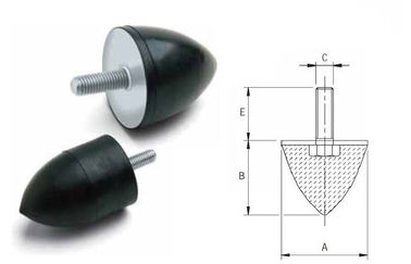 China Anti Vibration Conical Rubber Shock Absorber Rubber Dampers High Elasticity supplier