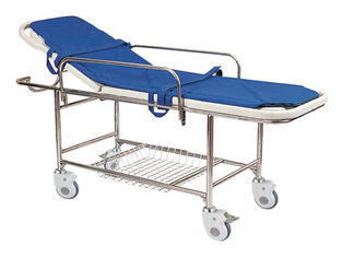 China Stainless Steel Manual Patient Transfer Trolley For Handicapped supplier