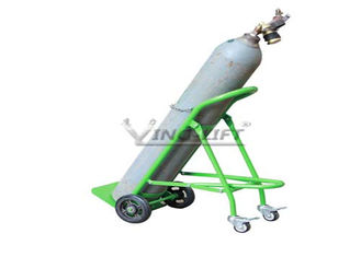 Fold Down Single Double Gas Cylinder Hand Truck Trolley With Restraining Strap for sales