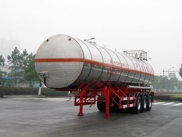 China Stainless Steel Gas Tanker Truck Trailer For 39500L Propylene Oxide delivery factory
